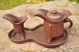 Wholesale Freeshipping new style tea set yixing purple clay teacup kongfu tea set famous Chinese antique tea tool