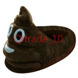 50PCS LJJH1053 emoji merde sourire chaussures mignonnes Chaussons super doux maison d'hiver chauds pour les enfants Femmes Hommes broderie coton cadeau de Noël cute slippers shoes for sale à partir de pantoufles chaussures mignonnes fournisseurs