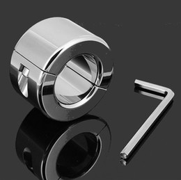 600G Stainless Steel Ball Scrotum Stretchers Metal Cock Ring Male Chastity Device Scrotum Testicle Stretched Sex Toys