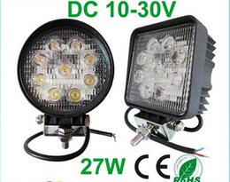 fast ship X10+Square Round 27W Flood Spot Beam Offroad LED Work Light Truck Boat Camping DC 12V 24V LED Working Light Off Road Round Driving