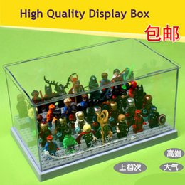 Wholesale Clear Plastic Original Building Blocks Minifigures Show Case Ladder Acrylic Collection Parts Compatible with Display Box