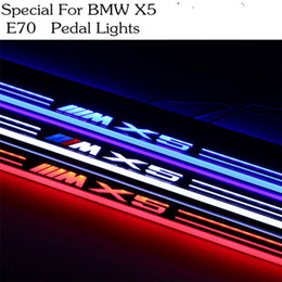 Wholesale Car Styling for BMW X5 E70 moving lighting LED pedal lights pathway Front door Side Step welcome lamp free ship