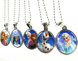 Wholesale Children best Christmas gift Frozen Stainless Steel Pendant Necklaces Fashion Jewelry