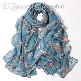 Foulards en coton de marque de gros à vendre-Foulards Femme 2015, femmes écharpe, imprimé Cartoon Hibou, châles de coton, hijab musulman, bandana, écharpe de concepteur, châles et foulards, cape, wrap