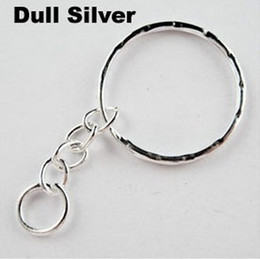 Wholesale Vintage Silvers Opening Embossed KeyChains Split Key 4 Ring For Keys Car Bag Key Ring Handbag Couple Key Chains Gifts 100pcs Z670