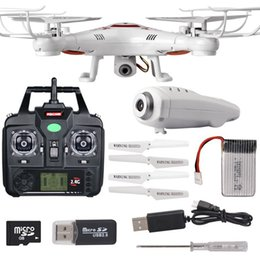 Wholesale-Syma x5c Upgrade Syma x5c-1 2.4G 4CH 6-Axis aerial RC Helicopter Quadcopter Toys Drone With Camera or without camera