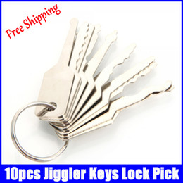 Wholesale 10pcs Jiggler Keys Lock Pick For Double Sided Lock Pick Tools hot sale popular