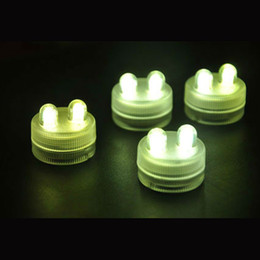 100pcs Dual Din Submersible Waterproof LED Floralyte Tea Lights Candle Lamps for Wedding Party Decoration 11 colors