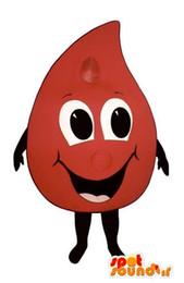 customized Blood mascot costume (boyl)+ logo behind + text behind ,free shipping !