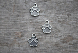 Wholesale 15pcs Dog Paw Charms Antique Tibetan silver Paw print charm pendants x17mm