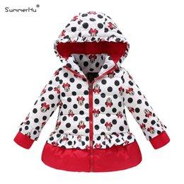 Wholesale-Summerhu Girls Long Down Jackets Winter New Cartoon Micky Print Wave Warm Winter Wear Down Outwear Coats
