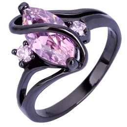 Hot Sapphire Rings 10KT Black Gold Filled Black Gold Ring