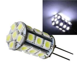 haute puissance lampe LED 27 SMD 5050 lampe G4 12V DC 360 Angle de faisceau LED éclairage d'ampoule de cristal Lustre plafonnier supplier dc led ceiling light à partir de dc a mené la lumière au plafond fournisseurs