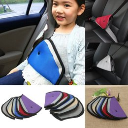 Wholesale NEW Baby Secure Safe Children Safety Belt Cover Strap Adjuster Conditioner Kids Safety Triangle Belt Holder Car Seat Heart Cushion Pad HQC1