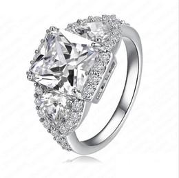 Wholesale 2015 New Wedding copper Rings K Gold Platinum Plated Micro Inlay Zircon Angel Wings Rings anillos de boda CRI0005