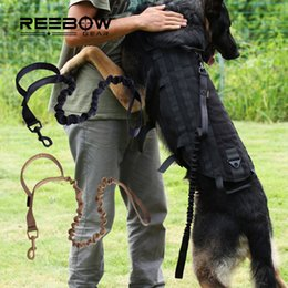 Wholesale REEBOW GEAR Advanced Tactical Bungee Dog Leash with Traffic Handle Heavy Duty Outdoor Sport Training Dog Lead
