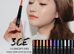 Wholesale Grace lodge Colorful multicolor eye shadow pen waterproof eyeliner is not blooming color mousse A014 colors choice fre shipping