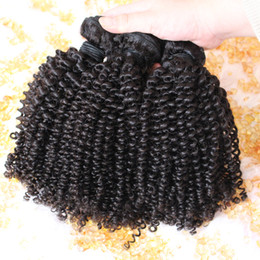pc gratuit Promotion Mongolian Kinky Curly virginHair 3 ou 4 pièces Kinky Curly Virgin Hair Cheap Malais Kinky Curly Virgin Hair Livraison gratuite brazillian Hair