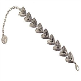 Wholesale New Arrived European Fashion Trendy Ancient Metal Triangle Flower Coin Charm Bracelets For Women Jewelry Accessories