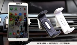 Wholesale New Creative Car air conditioning ventilation fence Holder Multifunction vehicle navigation apple plus vehicle mounted phone holder DHL