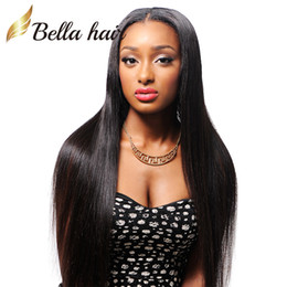 Middle Part Silky Straight Peruvian Hair Human Lace Front Wig 10-24inch 100% UNPROCESSED Human Hair Lace Wigs Julienchina Bellahair