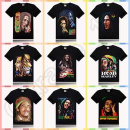Wholesale 10PCS HHA597 BOB MARLEY print new style round neck t shirt rock sir style promotion price design