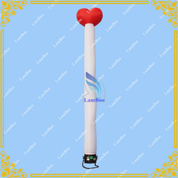 Wholesale 3m High Inflatable Heart Shape Air Dancer for Advertisement Sky dancer for Events with Blower Included