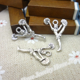 Charms Antique Plated Silver Zinc Alloy Eyes Cheerleading Fit Pendant Bracelet Necklace DIY Jewelry 150pcs