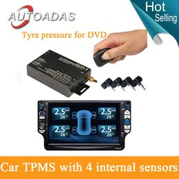 Wholesale tyre pressure monitoring system internal sensors psi bar english interface tpms dvd tyre pressure for dvd tpms psi car tpms