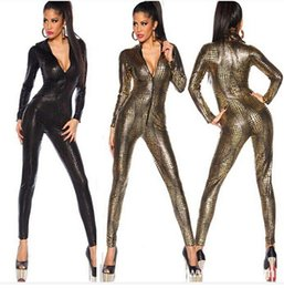 Sexy Jumpsuit For Women Vinyl Leather Jumpsuit Hot Sale New Fashion 3 Color Sexy Leather Bodysuit top sale free shipping