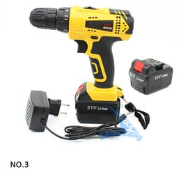 Wholesale 21V Lithium Battery Rechargeable Hand Drill Cordless and Screwdriver Mini Electric Drill Driver Tools Set Household Hand Tools