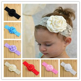 Fashion Baby girl headbands Rose Lace flower Headband for girls Children's hair accessories Infant tiara baby headbands flowers wholesale