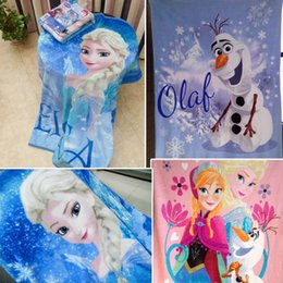 Wholesale Frozen Elsa Raschel Blanket frozen Dairy queen elsa adventures Frozen anime raschel blankets NEW HOT IN STOCK