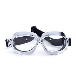 Cascos de moto de época en Línea-2017 Nuevos gafas del casco de la motocicleta de MJMOTO para los anteojos clásicos de los anteojos del casco de la vendimia de la cara abierta a prueba de viento de la moto para el harley