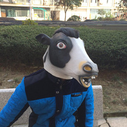 New Arrival Cow Mask Realistic Latex Mask Animal Mask Full Face Party Costume Carnival Halloween Mask free shipping