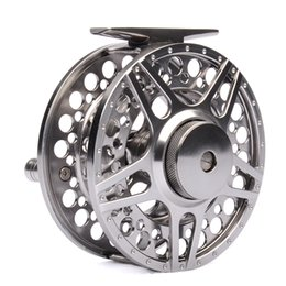 Wholesale 2BB RB METAL fly fishing reel LARGE ARBOR designed w INCOMING CLICK PRECISION MACHINED from BAR STOCK ALUMINUM