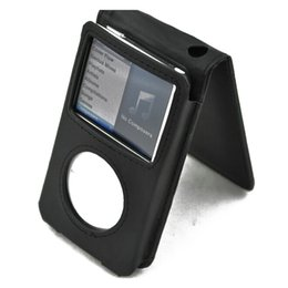 Wholesale Black PU Leather Flip Case Cover Skin for iPod Classic G GB GB