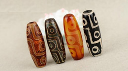 15*40 Tibetan 2 Eyes,9 Eyes Dzi natural agate Stones beaded antique old loose beads for DIY Necklace Pendants making Accessories.