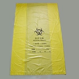 Wholesale Yellow medical waste bags Medical flat garbage bags of medical waste for plastic bags