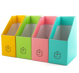 Wholesale Pure color thickening reinforce paper document frame File magazine desktop storage box