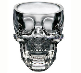 Wholesale Glass Goblets Mini Liquor Crystal Head Shot Skull Glass Wine Cups and Mugs For Vodka Whisky With Package