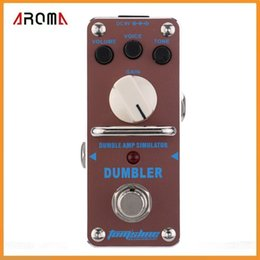 Wholesale Top Quality AROMA ADR Dumbler Amp Simulator Mini Single Electric Guitar Effect Pedal with True Bypass