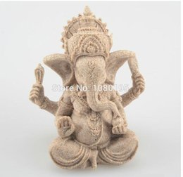 Wholesale Sand yellow Indian Elephant God Ganesha statue for home office decoration business