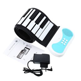Argentina Flexible 49 teclas Roll-up de Silicon Piano Teclado Portátil Soft Piano Instrumento Educacional para Niños con US / UK / UE Plug orden $ 18Nadie pista soft keyboard piano 49 for sale Suministro