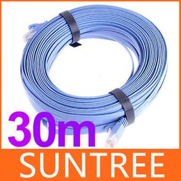 Wholesale Flat Ethernet Patch Network Lan Cable RJ45 CAT6a Cat6 Cord m with Retail Package Network Cable Cat Flat Slim Ethernet Patch Cable