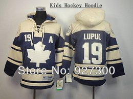 Factory Outlet, Best quality, Kid Hoodie Old Time Hockey Hoodie Phil Kessel #19 A Patch Kids Ice Hockey Jersey Toronto Blue Hoodie