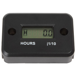 Wholesale 10pcs LCD Display Waterproof Inductive Tach Hour Meter for Marine ATV Motorcycle Snowmobile OUT_140