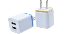 Universal 2.1A Wall Charger US EU Plug Dual USB 2 Port AC Power Adapter 2 ports for iphone 6s 7 8 plus for Samsung HTC