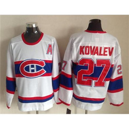Wholesale Vintage White Hockey Jersey Alexei Kovalev Hockey Training Shirts Top Quality Mens Athletic Apparel Cheap Ice Hockey Wear