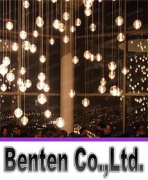Promotion pendeloques de cristal Lustres en cristal de LED pour les escaliers Duplex Hotel Hall Mall avec des ampoules Dimmable G4 AC100 à 240V CEFCCROHS DIY Lighting